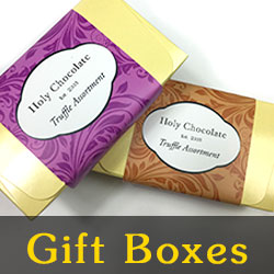 gourmet chocolate gift boxes with truffles or candies