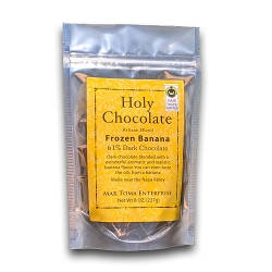 Holy Chocolate Frozen Banana Fair Trade non-gmo