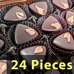 24pc Gift Box - Dark Chocolate Caramels