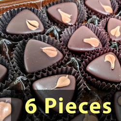 6pc Gift Box - Dark Chocolate Caramels